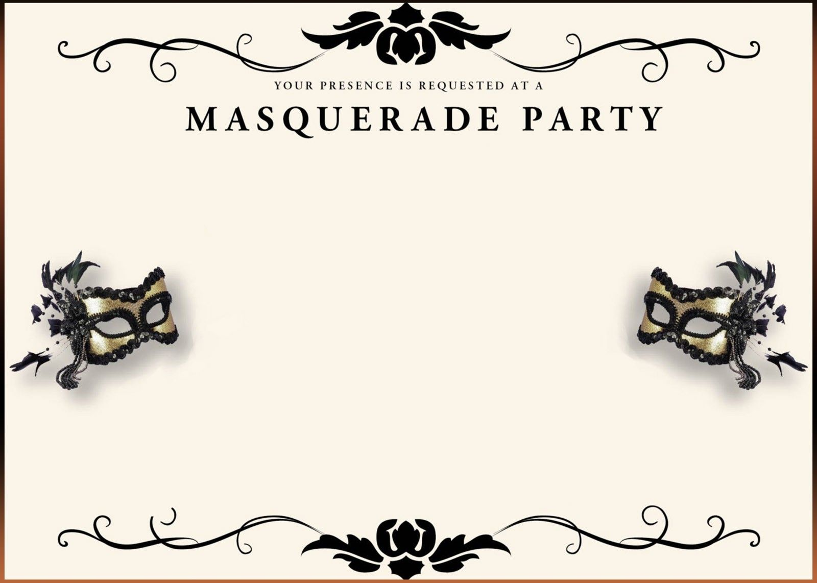 vector freeuse download Masquerade clipart masquerade invitation. Your invited to the.