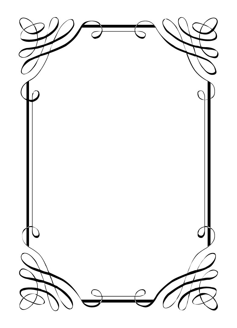 graphic freeuse download Clipart borders free. For invites vintage clip