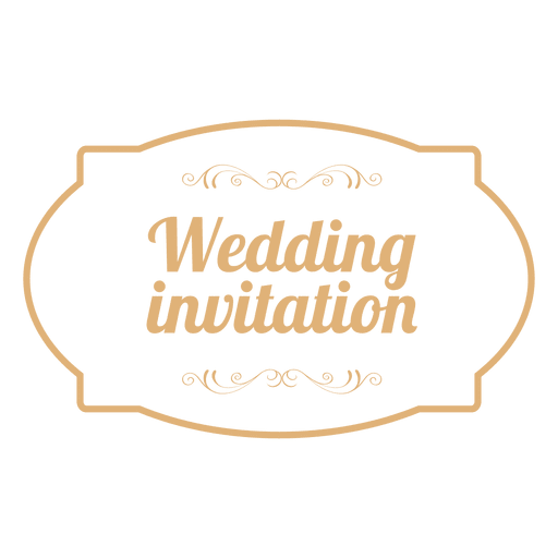 stock Wedding invitation badge