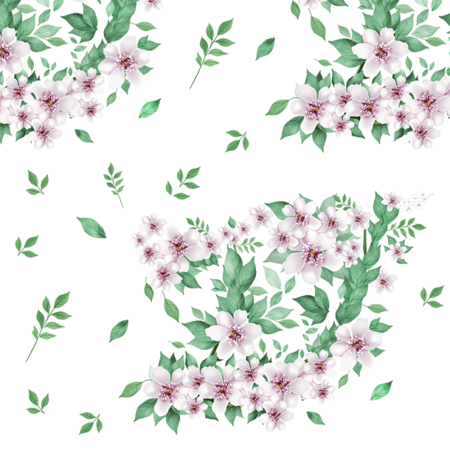 jpg freeuse stock Beautiful Floral Flowers With Green Leaf Vector PNG