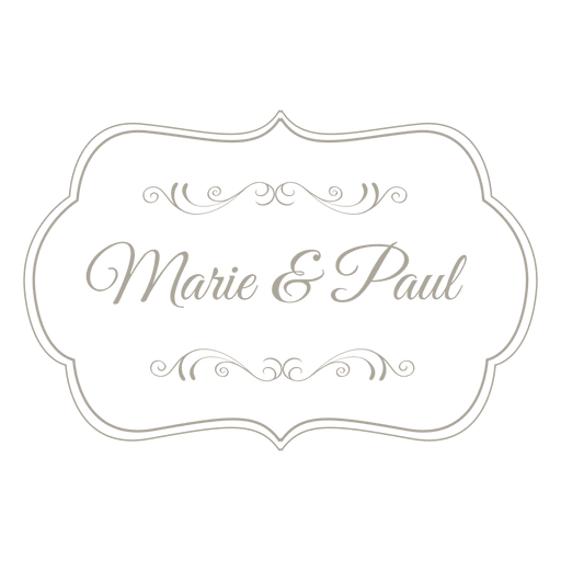 picture royalty free library Decorative wedding invitation badge
