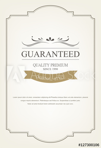 banner free download Vintage greeting card template. Vector certificate ornament
