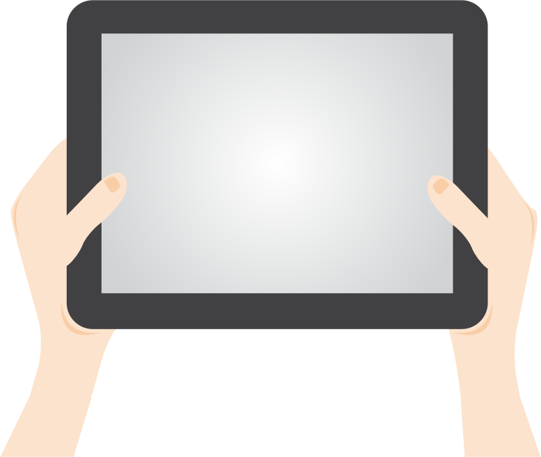 clip art library library Ipad clipart tablet. Person holding medium image.