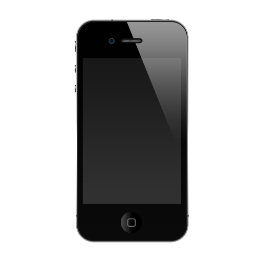 clip black and white library Icon png image iconbug. Iphone clipart black and white