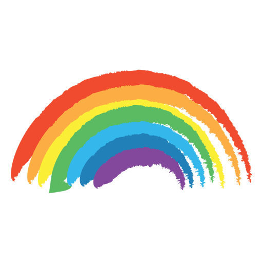 png black and white stock Colorful drawn rainbow