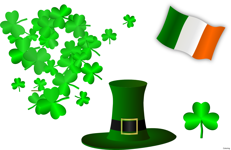 black and white stock Ireland st patrick s. Irish clipart.