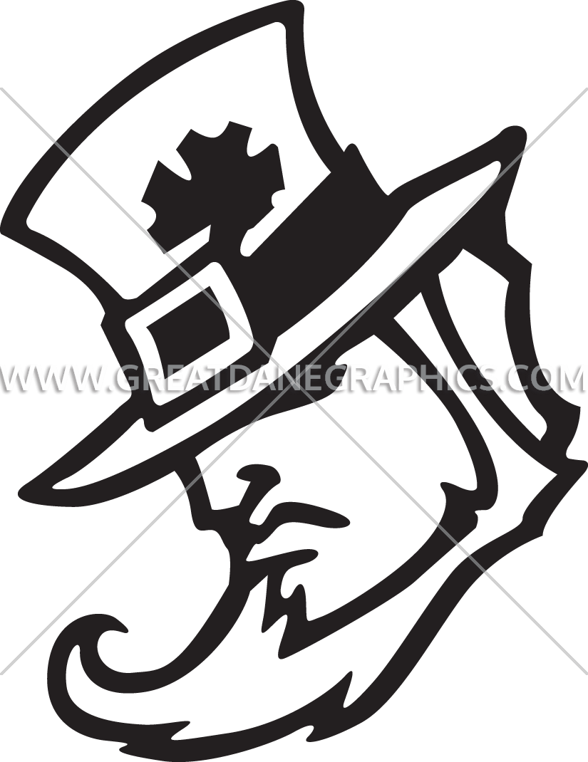 image free library Man head production ready. Irish clipart black and white