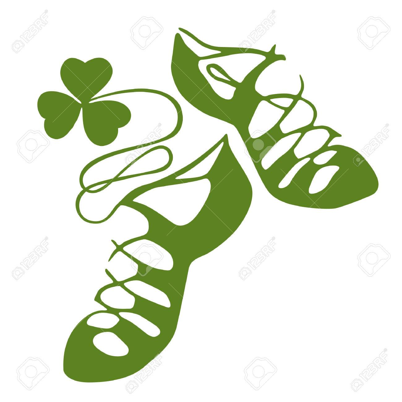 picture black and white library Irish dance shoes clipart. Station .