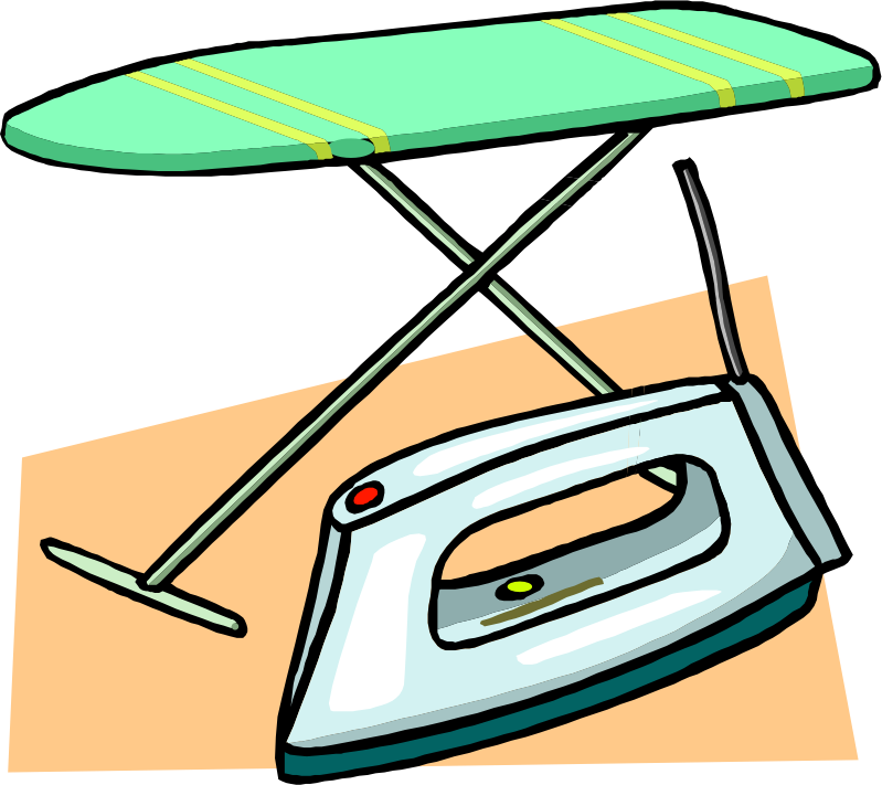 graphic freeuse Ironing board and medium. Iron clipart