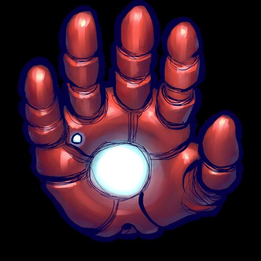 banner Iron Man Hand Icon