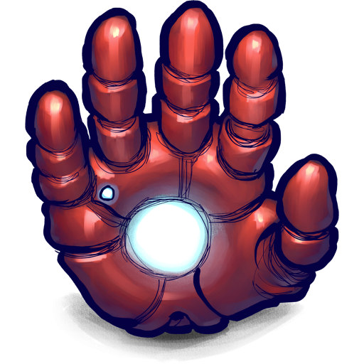 vector royalty free Iron Man Hand Icon