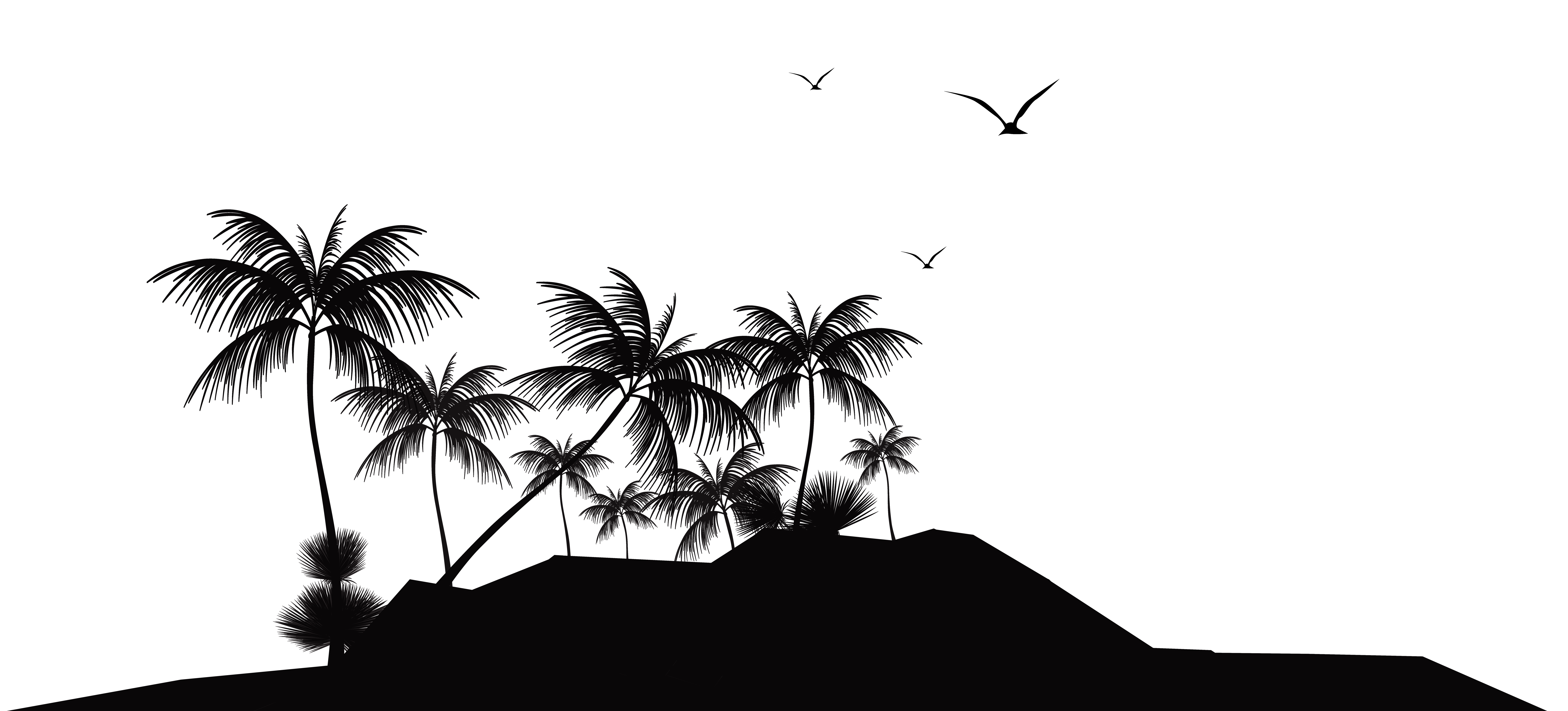 jpg free stock Island clipart. Tropical silhouette png clip.