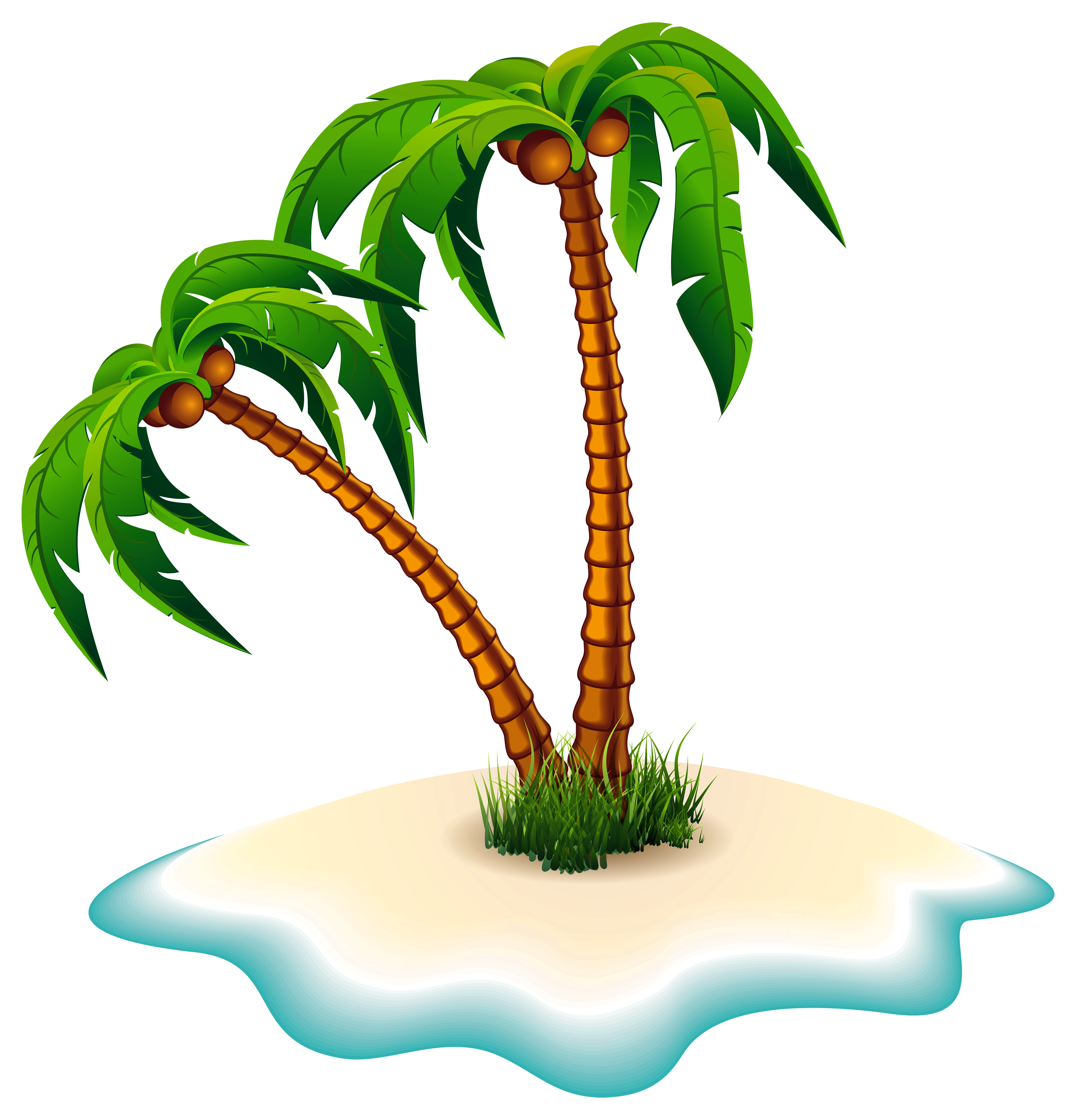 picture black and white library Palm trees and png. Weekend clipart island vacation.