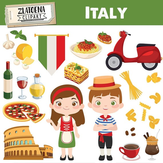 jpg black and white stock Italian clip art pizza. Italy clipart.