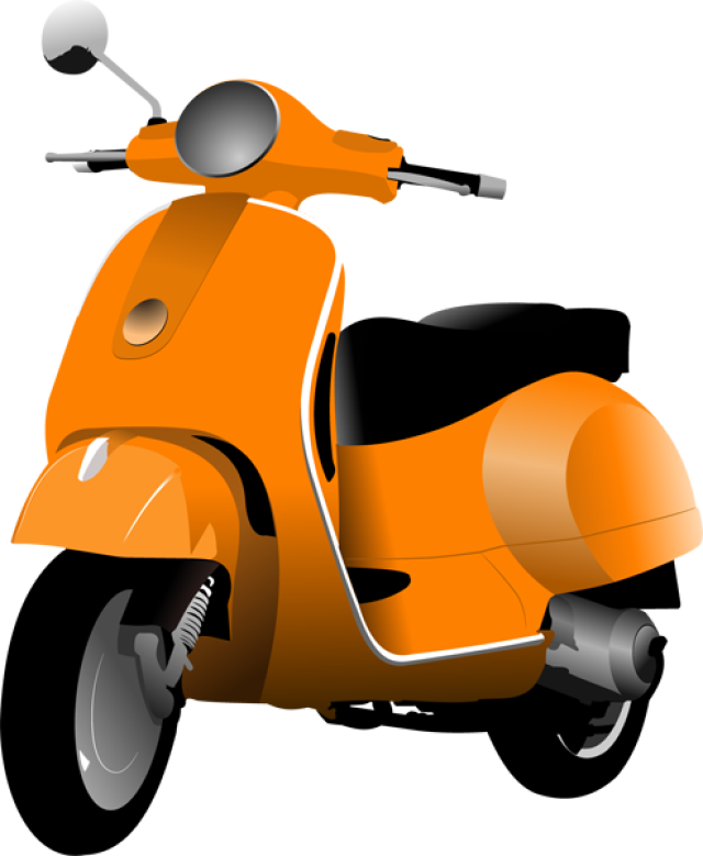 vector black and white download Scooter clipart motor vehicle. Scooters and