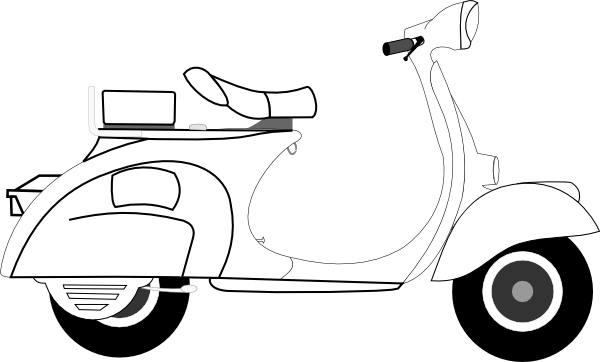 clipart transparent library Scooter clipart motor vehicle. Clip art at clker