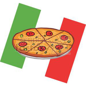 banner black and white stock Pepperoni in front of. Italian clipart peperoni pizza
