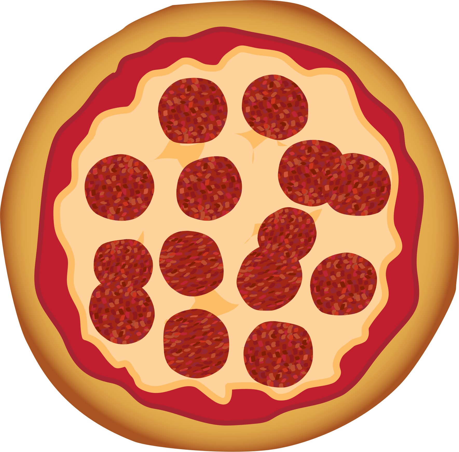 graphic royalty free Top Pepperoni Pizza Clip Art Pictures