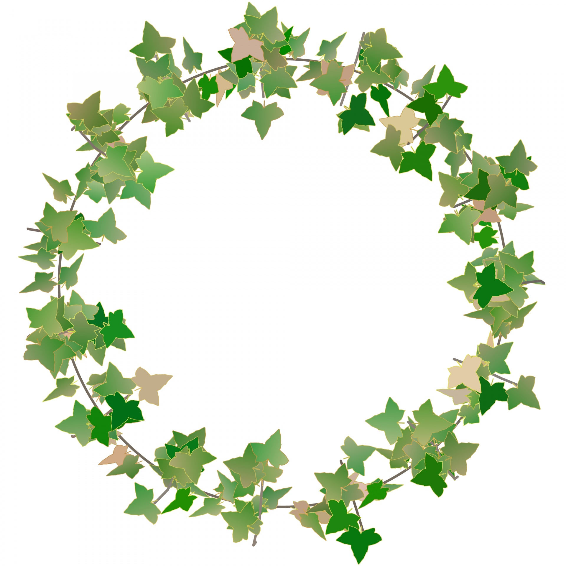 clip Station . Ivy wreath clipart