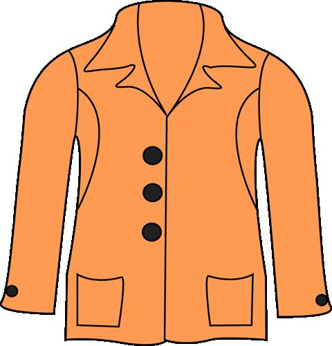 image freeuse stock Orange . Jacket clipart.