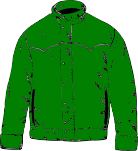 graphic freeuse stock Green clip art at. Jacket clipart.