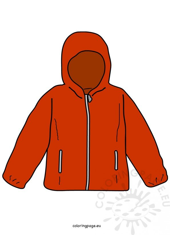 graphic freeuse stock Jacket clipart. Red kids clothing coloring.