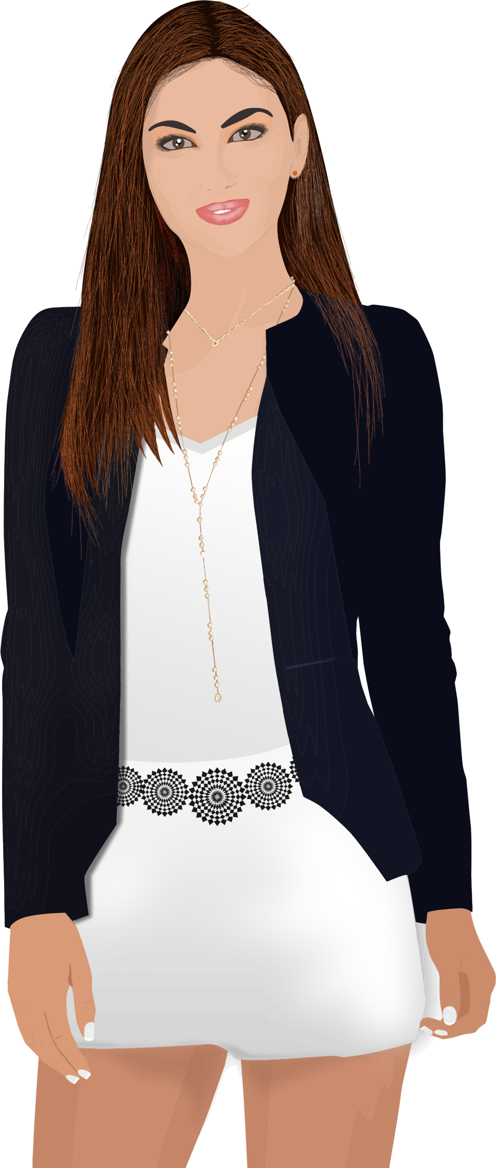 image royalty free download Businesswoman clipart working lady. Business woman portrait trace.