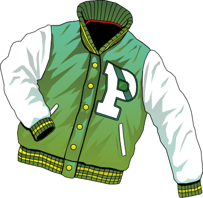 clipart Pile of clothes clipart. Letter jacket