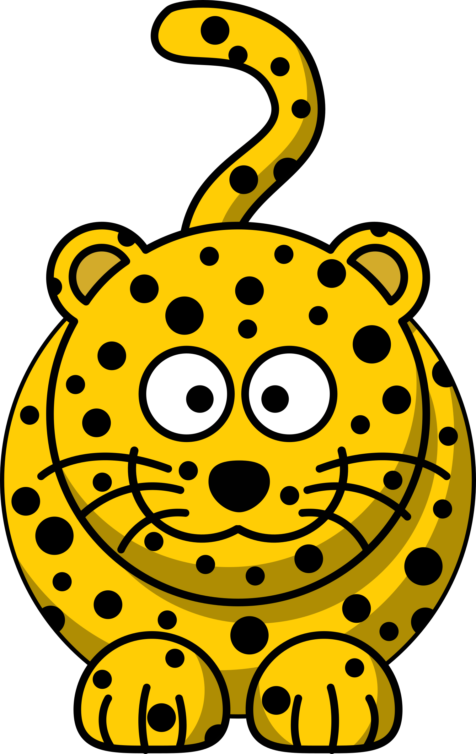 picture royalty free library Jaguar cartoon free on. Cheetah clipart cheetah cub.