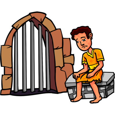 banner stock Image joseph jailed christart. Jail clipart