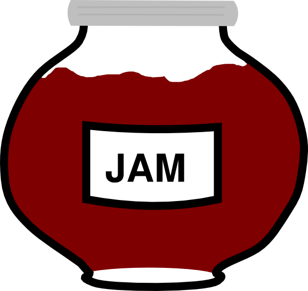 png black and white stock Jar clip art at. Jam clipart.