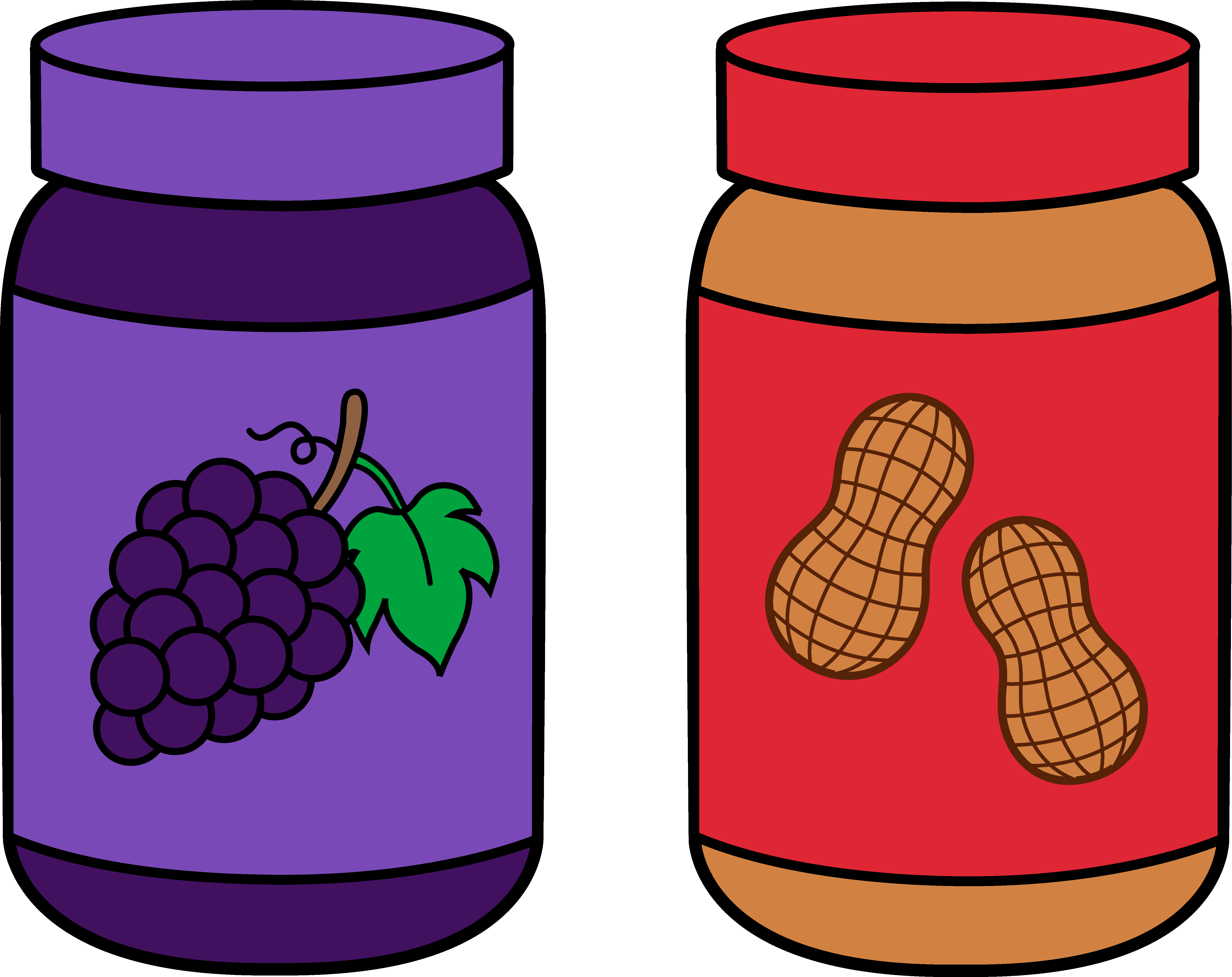 graphic freeuse Peanut Butter Clipart grape jelly