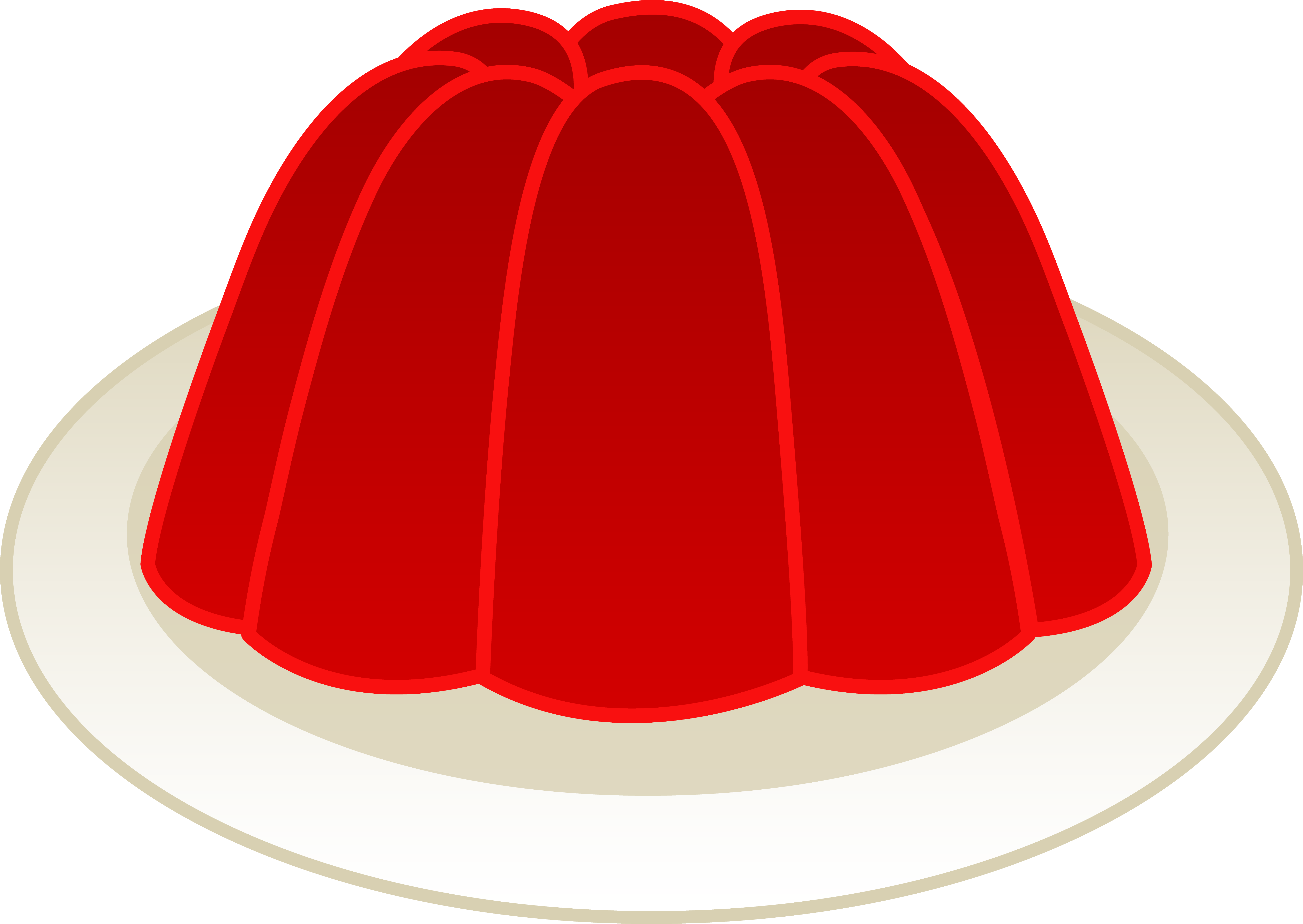 image transparent stock Jelly Clipart jelly on plate