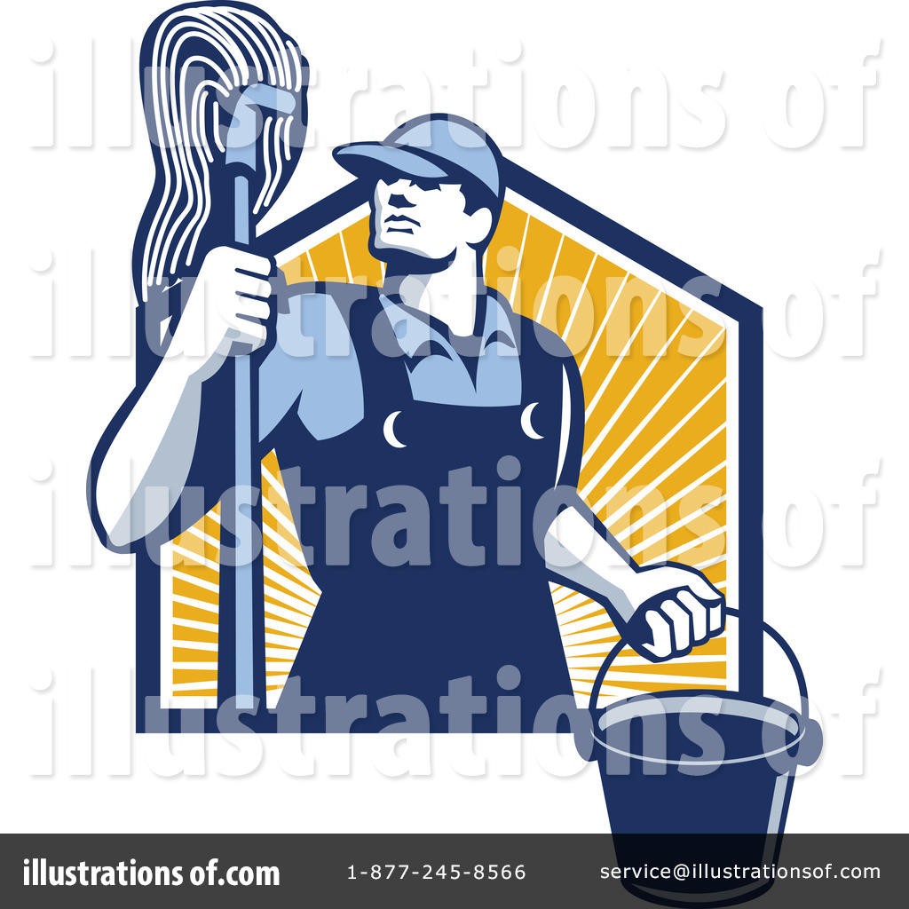 graphic transparent Janitor clipart. Illustration by patrimonio .