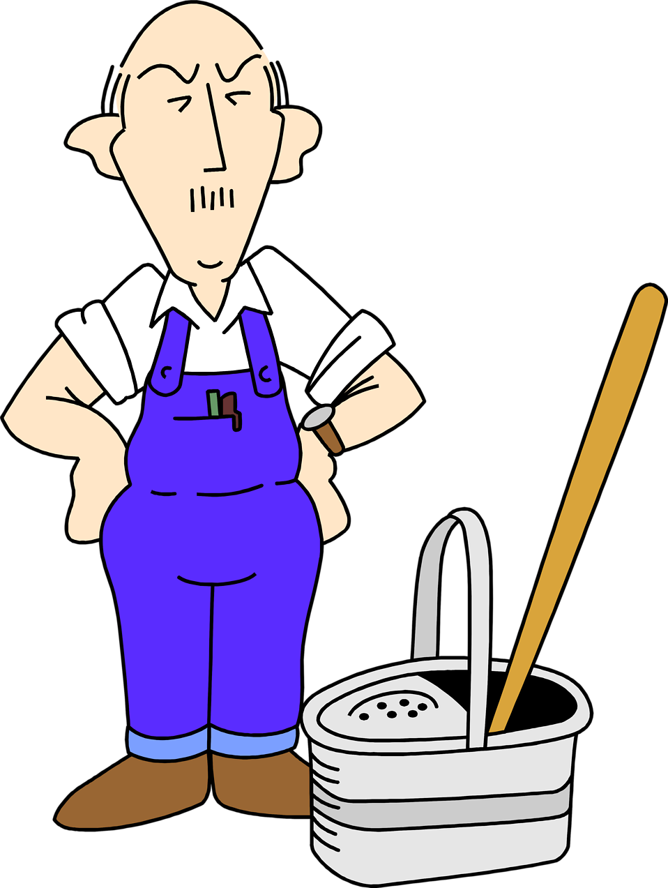 png freeuse library Janitor clipart. Cleaning both genders .