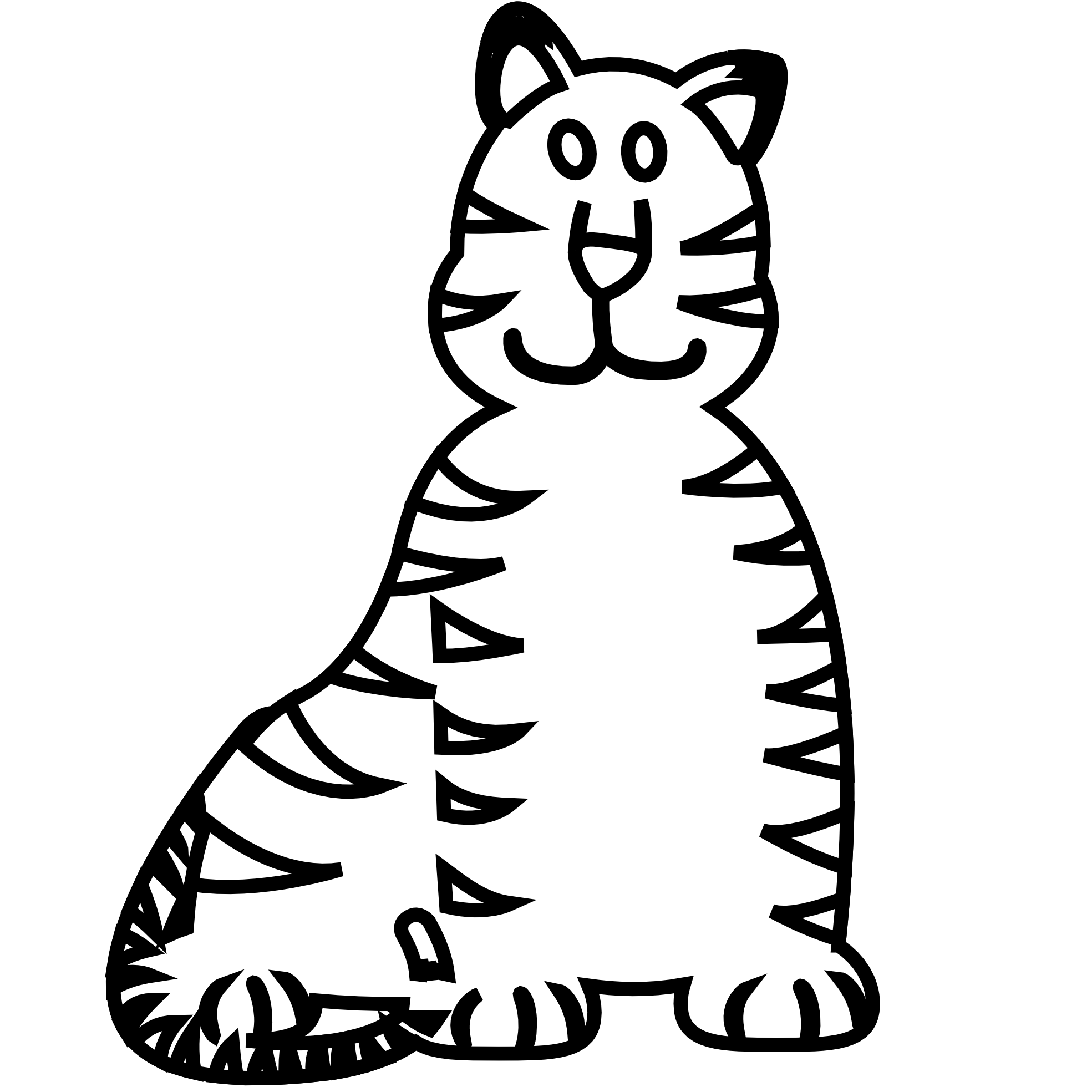 picture royalty free library Awesome to do tiger. Clipart bear black and white