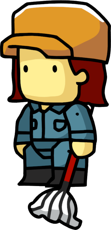picture royalty free library Image png scribblenauts wiki. Janitor clipart female.