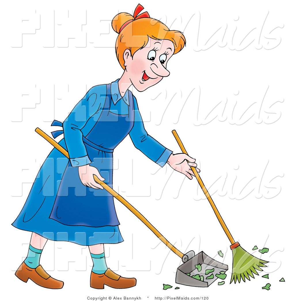 graphic freeuse library Janitor clipart sweeper. Broom sweep transparent