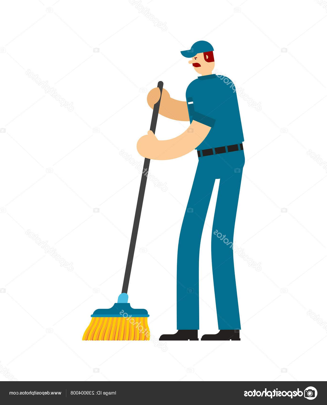 png black and white Janitor clipart sweeper. Best broom vector photos