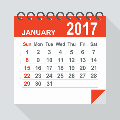 clip art royalty free download January 2017 clipart. Calendar