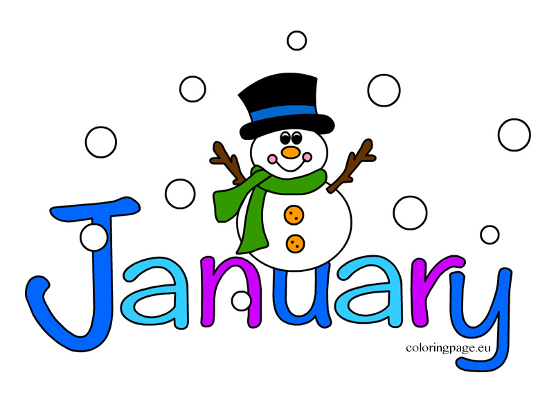 clipart royalty free stock January clipart. Free clip art download