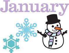clip art library stock January clipart for calendars.  best calendar images.