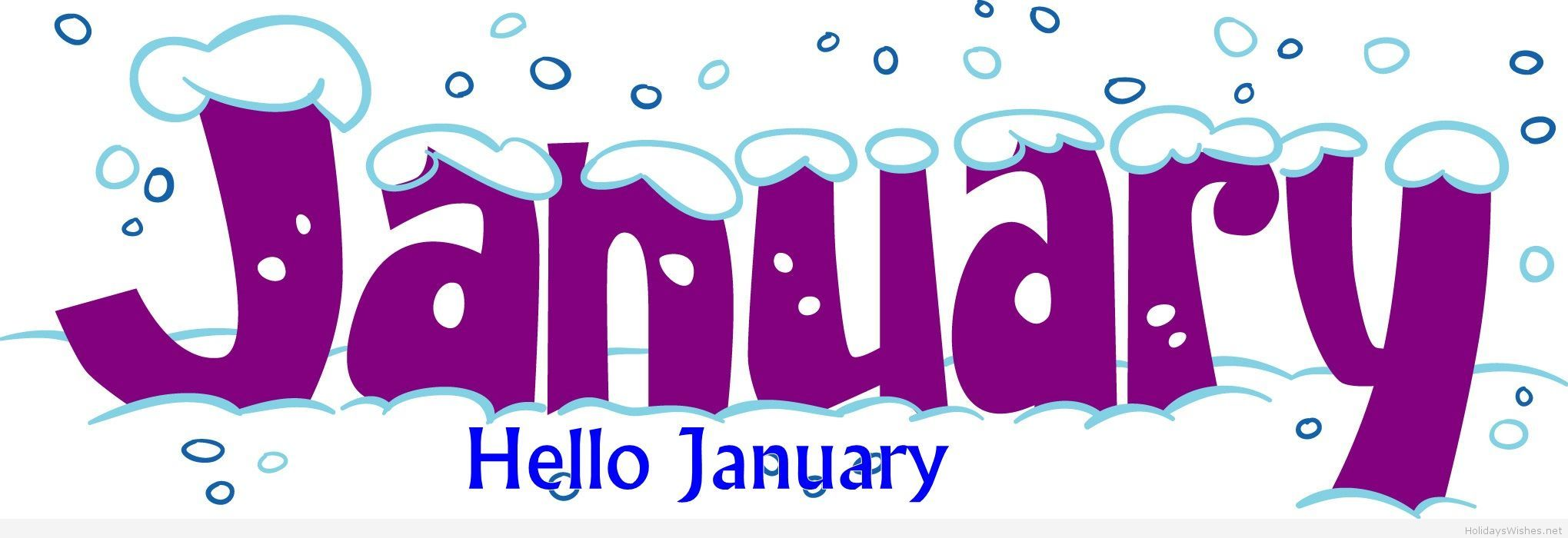 clip art free download Hello cover fb . January clipart for calendars.