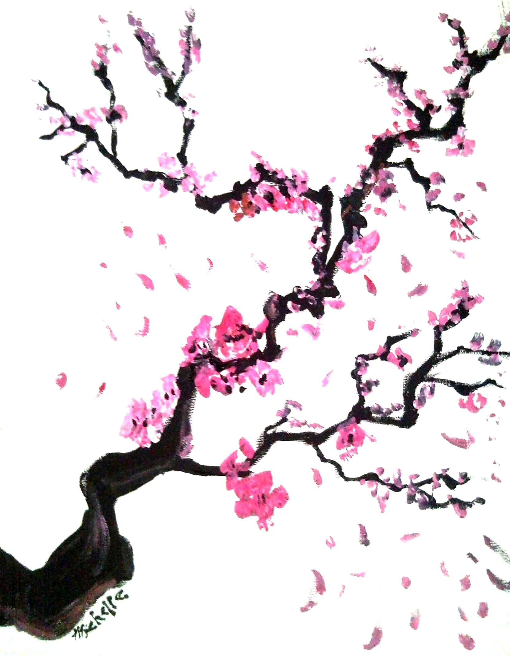 clip transparent Blossoms by karmaela on. Japanese cherry blossom tree clipart.