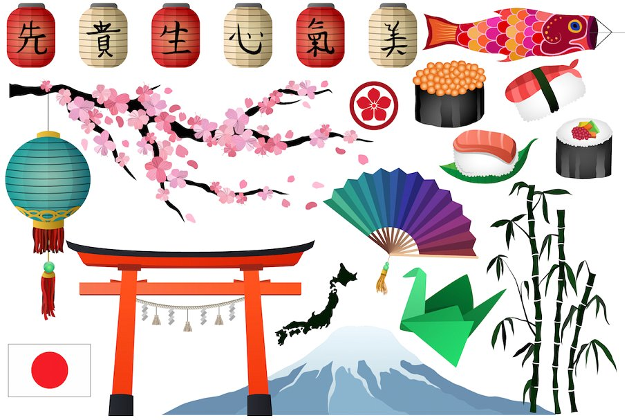 jpg free library Asian vector png illustrations. Japanese clipart
