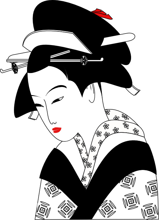 image transparent stock Lady free on dumielauxepices. Japanese clipart