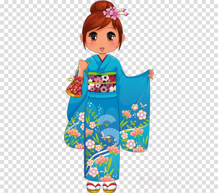 banner freeuse Cartoon illustration clothing . Japanese clipart clothes japan