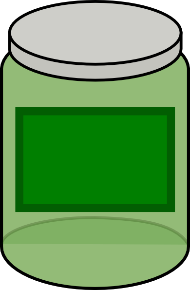 jpg library download Green clip art at. Bug jar clipart