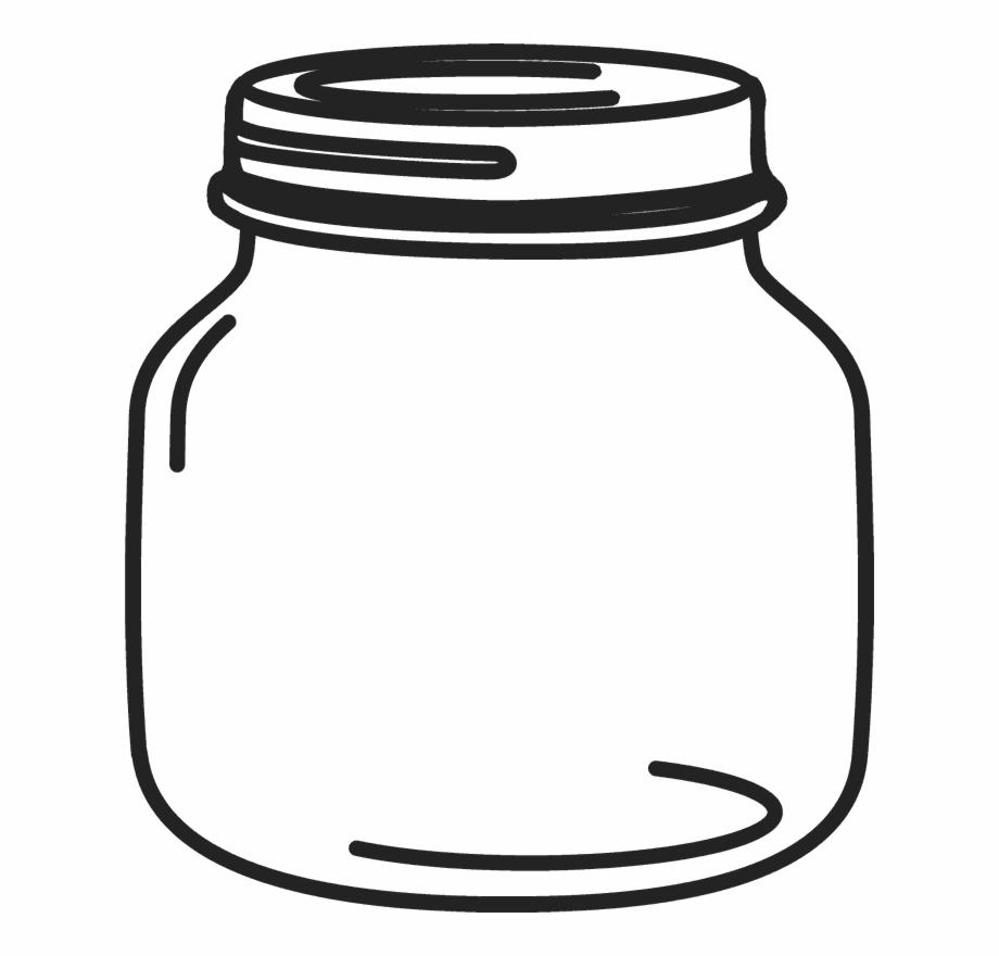 clipart transparent stock Jar clipart. Petite mason rubber stamp.