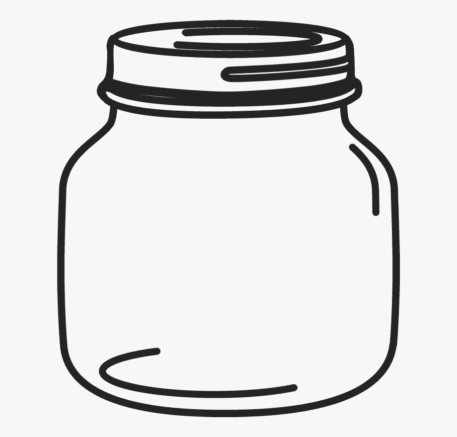 vector library stock Petite mason rubber stamp. Jar clipart.
